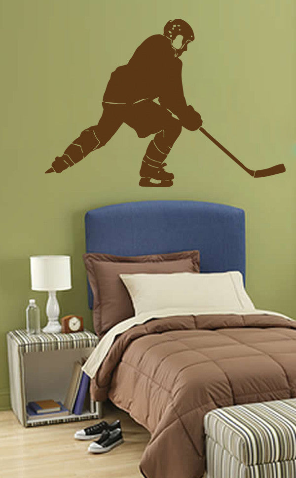 ik561 Wall Decal Sticker hockey stick puck rink sport team game kids bedroom