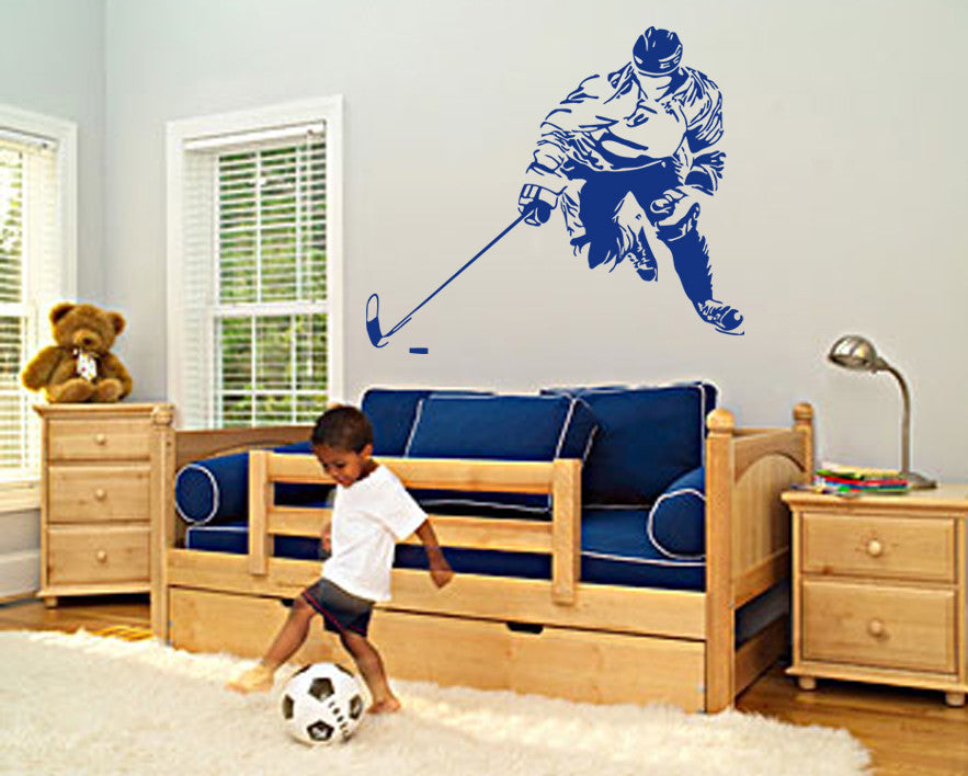 ik562 Wall Decal Sticker hockey stick puck rink sport team game kids bedroom