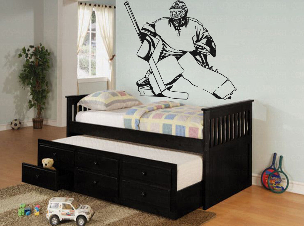ik563 Wall Decal Sticker roller hockey stick goalie stick puck sport team game