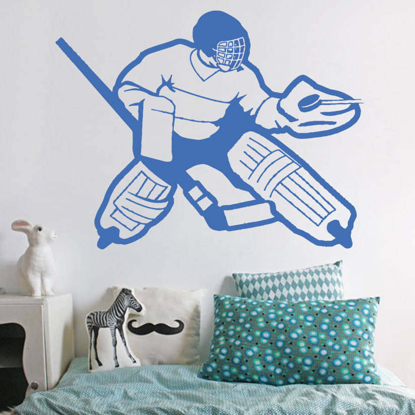 ik565 Wall Decal Sticker roller hockey stick goalie stick puck sport team game