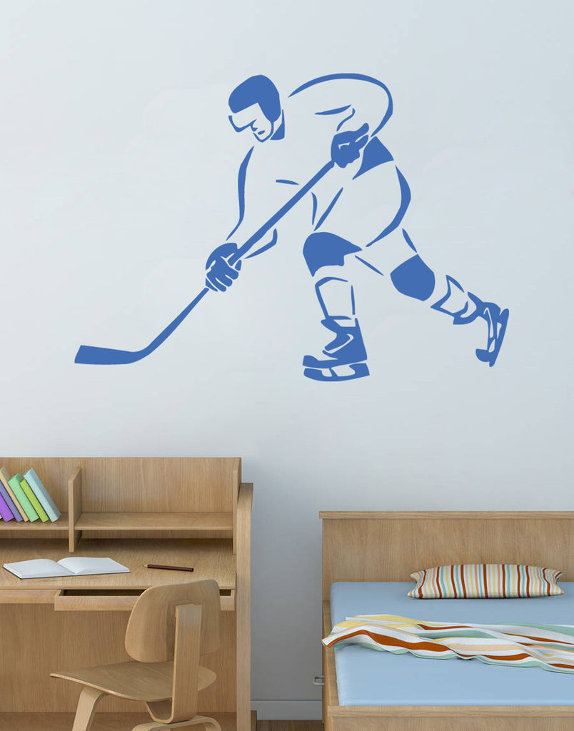 ik568 Wall Decal Sticker hockey stick puck rink sport team game kids bedroom