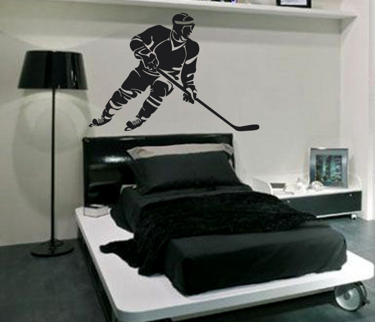 ik571 Wall Decal Sticker hockey stick puck rink sport team game kids bedroom