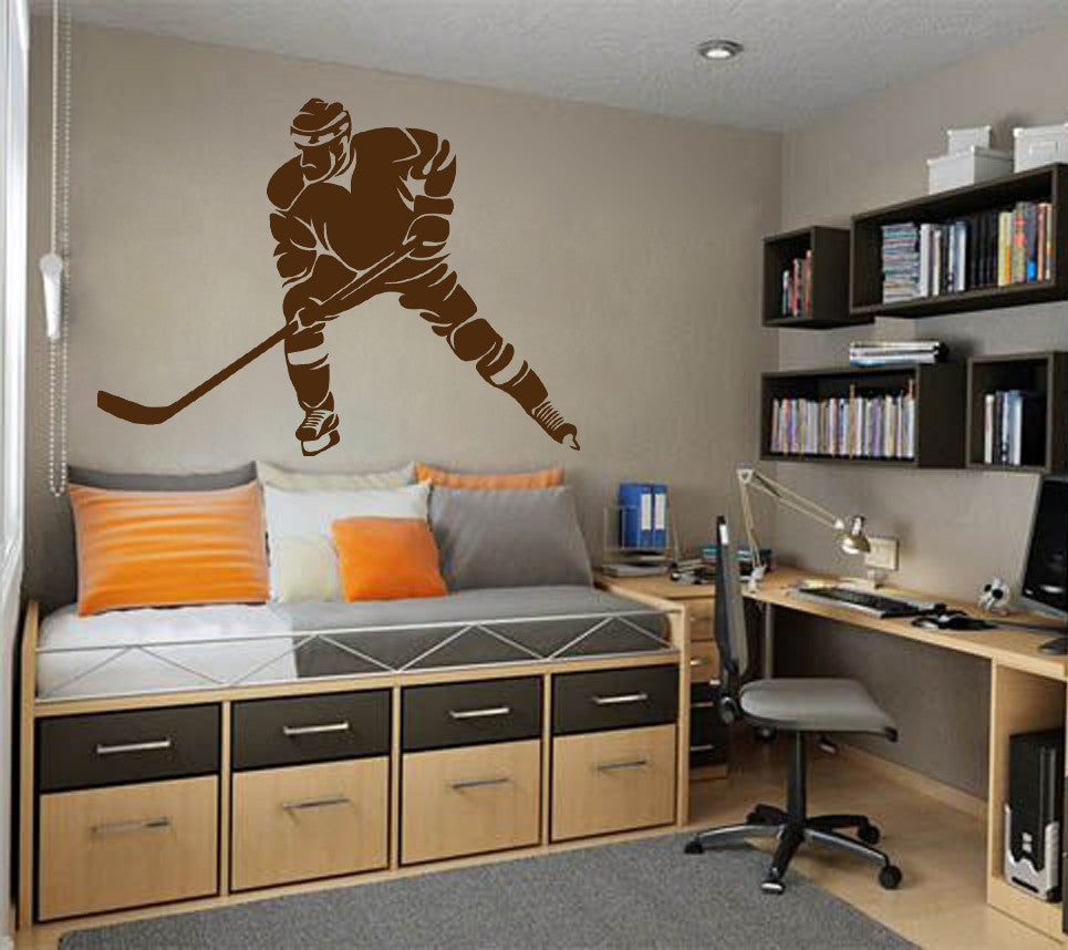 ik573 Wall Decal Sticker hockey stick puck rink sport team game kids bedroom