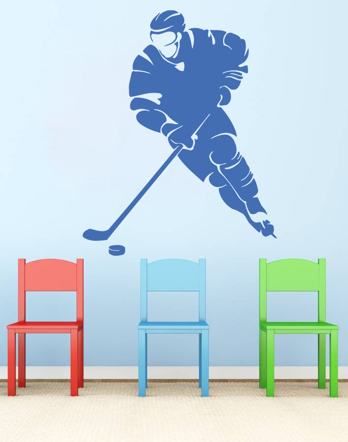 ik574 Wall Decal Sticker hockey stick puck rink sport team game kids bedroom