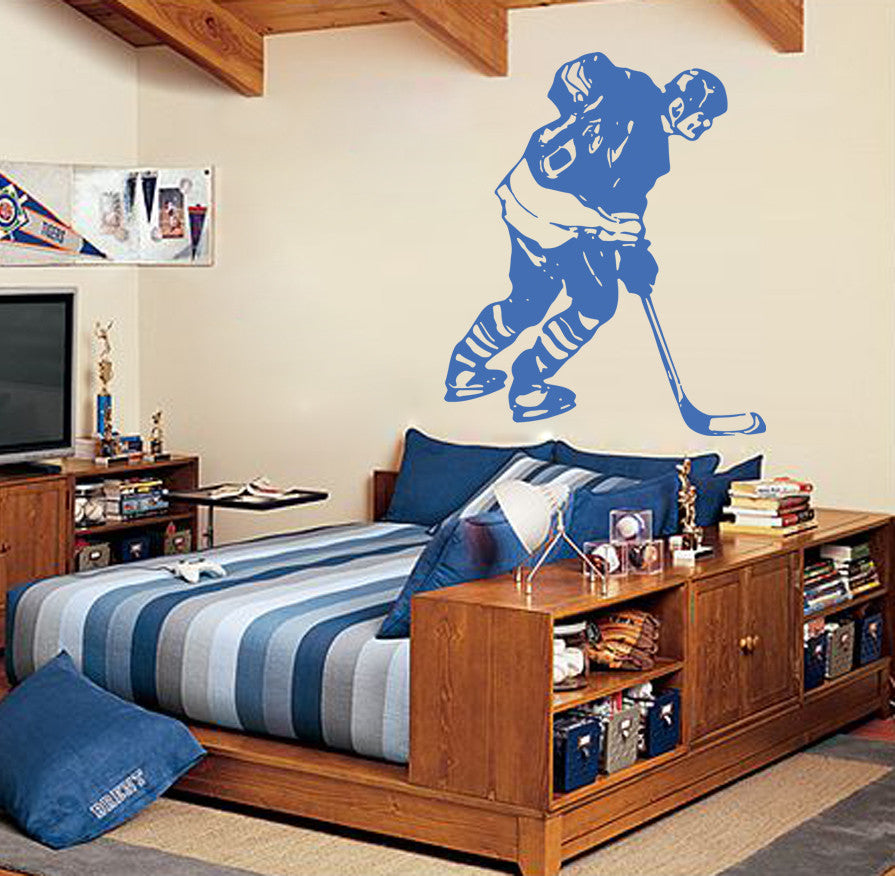 ik576 Wall Decal Sticker hockey stick puck rink sport team game kids bedroom