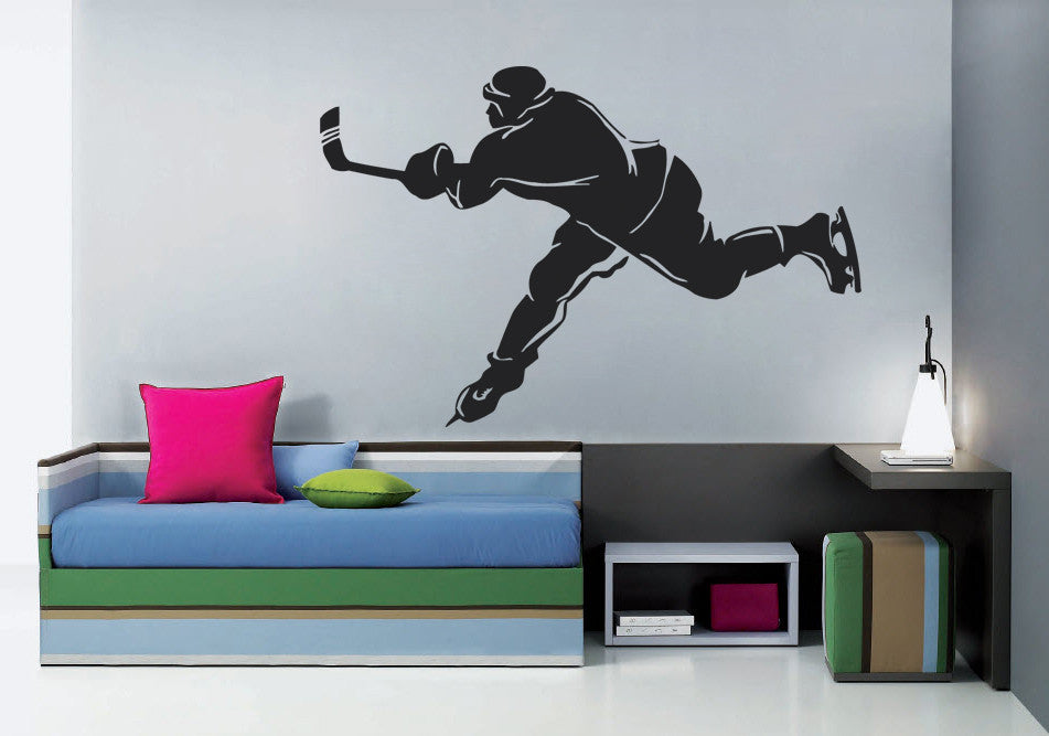 ik585 Wall Decal Sticker hockey stick puck rink sport team game kids bedroom