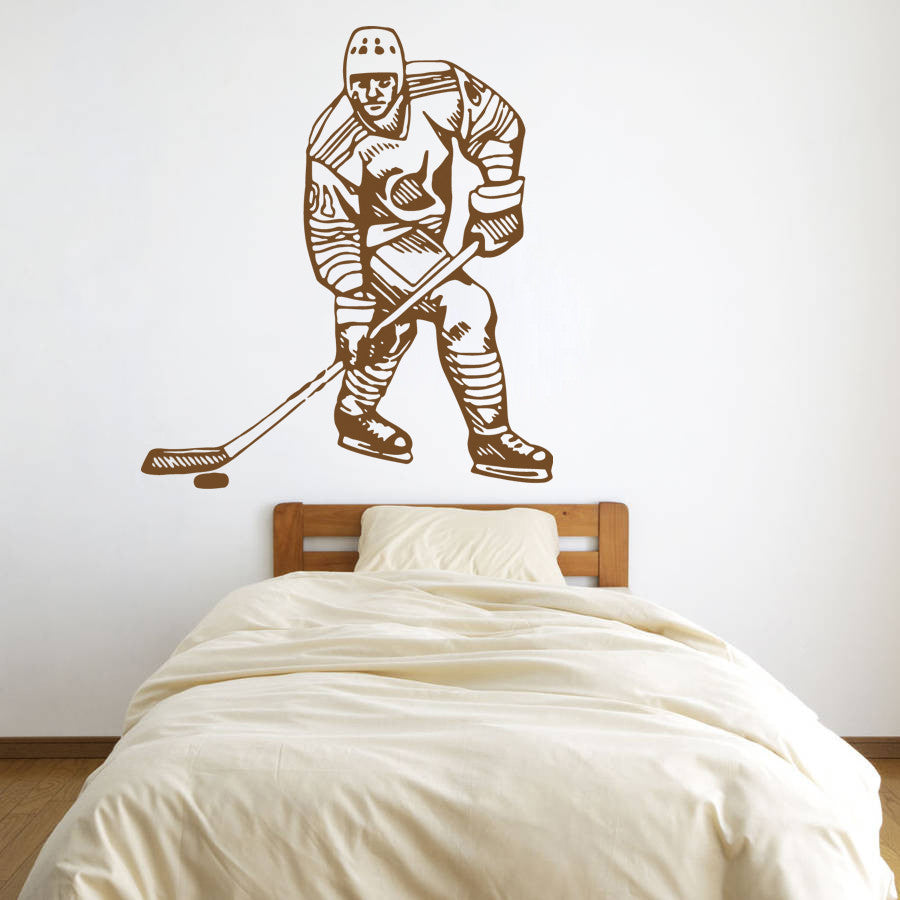 ik588 Wall Decal Sticker hockey stick puck rink sport team game kids bedroom