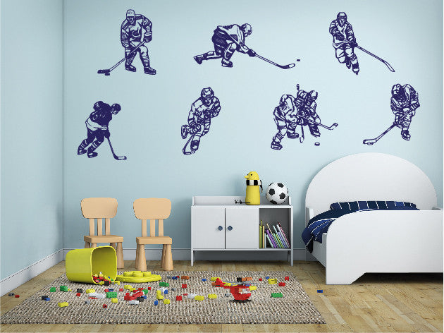 ik589 Wall Decal Sticker hockey stick puck rink sport team game kids bedroom