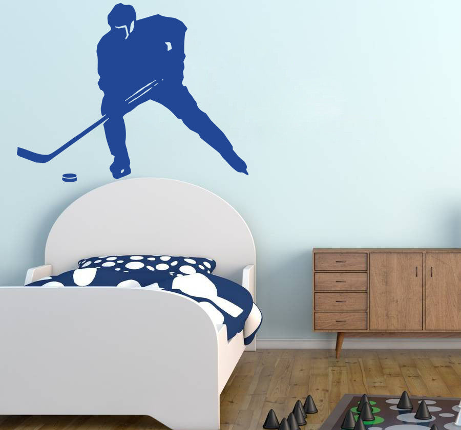 ik590 Wall Decal Sticker hockey stick puck rink sport team game kids bedroom