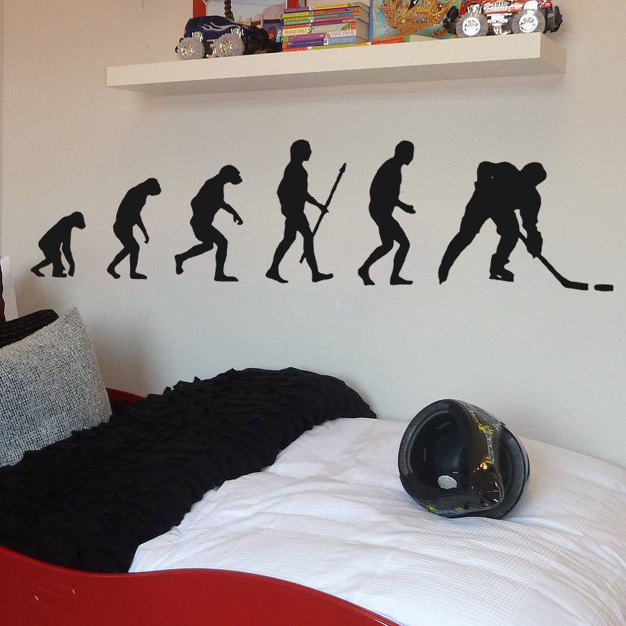 ik596 Wall Decal Sticker hockey stick puck rink sport team game kids bedroom