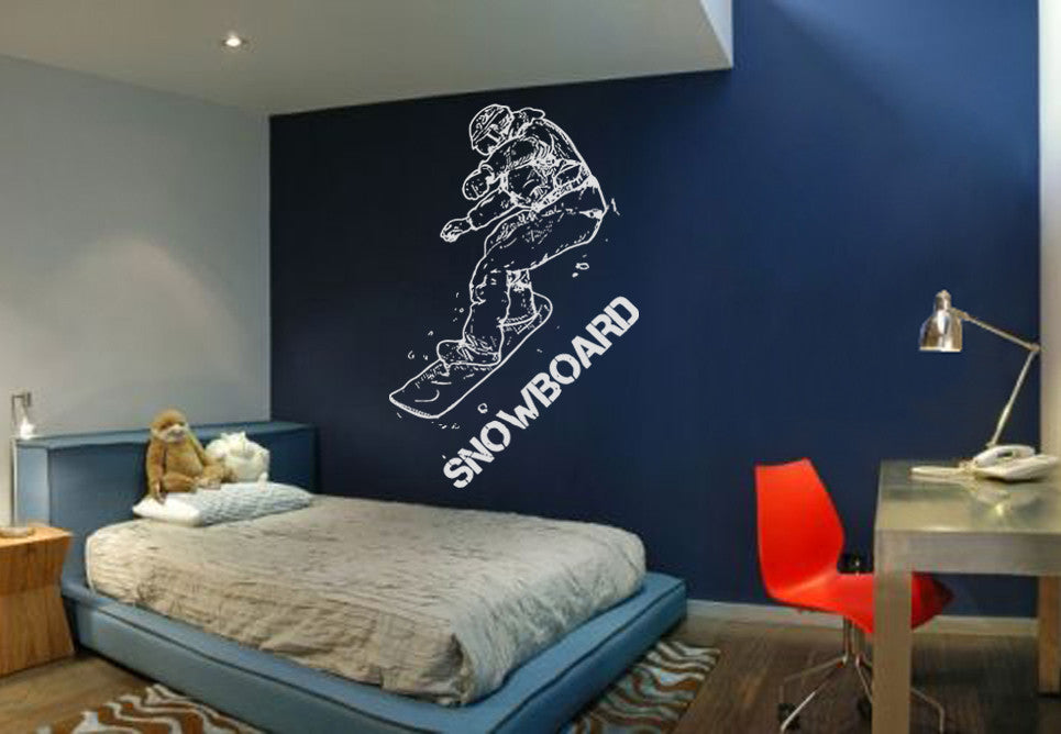 ik612 Wall Decal Sticker snowboarder snow board sports bedroom kids teen rink
