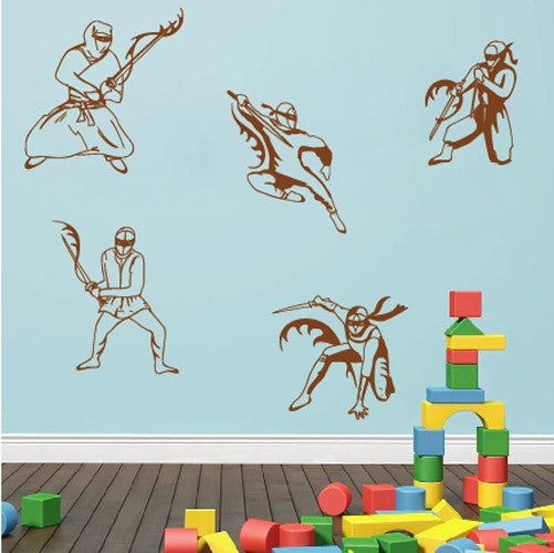 ik620 Wall Decal Sticker Ninja Japan spy defender fighter warrior