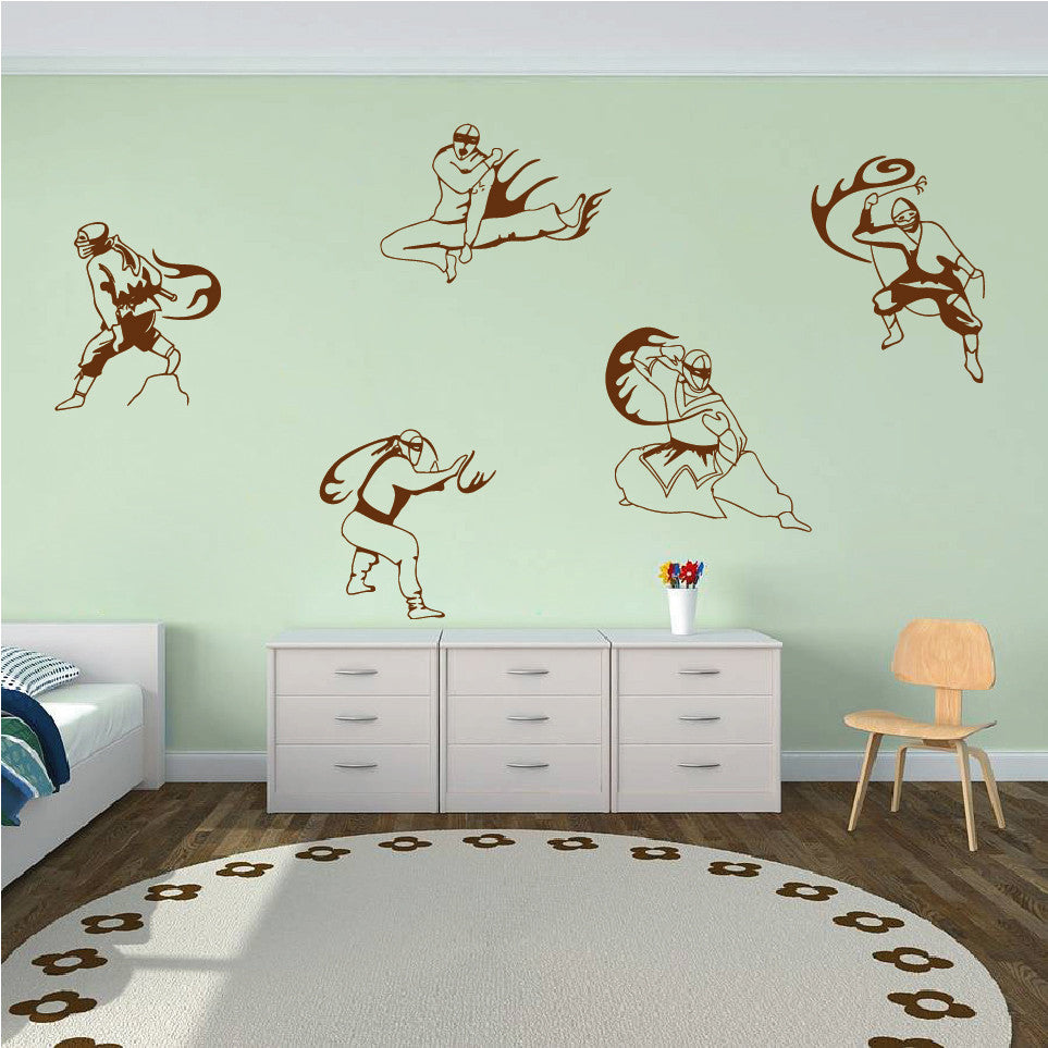 ik623 Wall Decal Sticker Ninja Japan spy defender fighter warrior