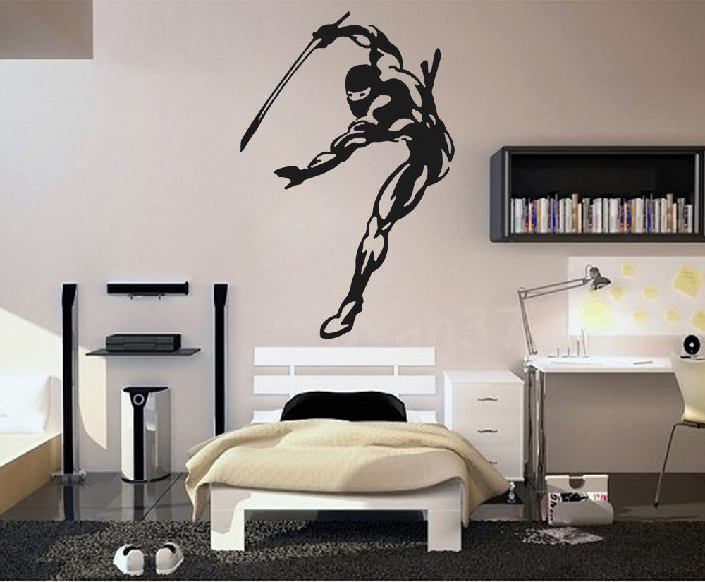 ik633 Wall Decal Sticker Ninja Japan spy defender fighter warrior