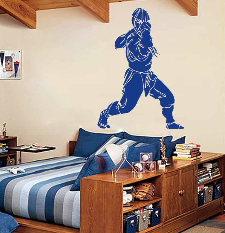 ik650 Wall Decal Sticker Ninja Japan spy defender fighter warrior