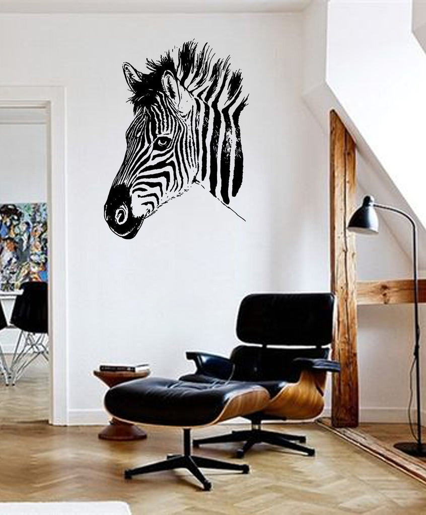 ik658 Wall Decal Sticker zebra African animal africa thoroughbred horse bedroom