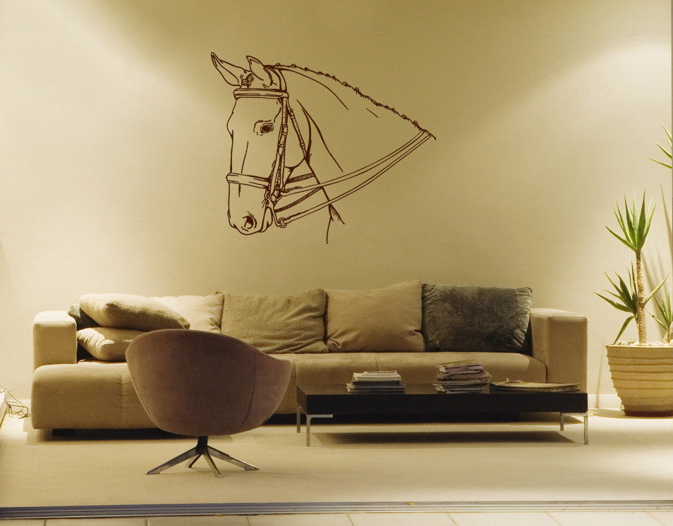 ik663 Wall Decal Sticker head horse nag pet stallion thoroughbred horse bedroom