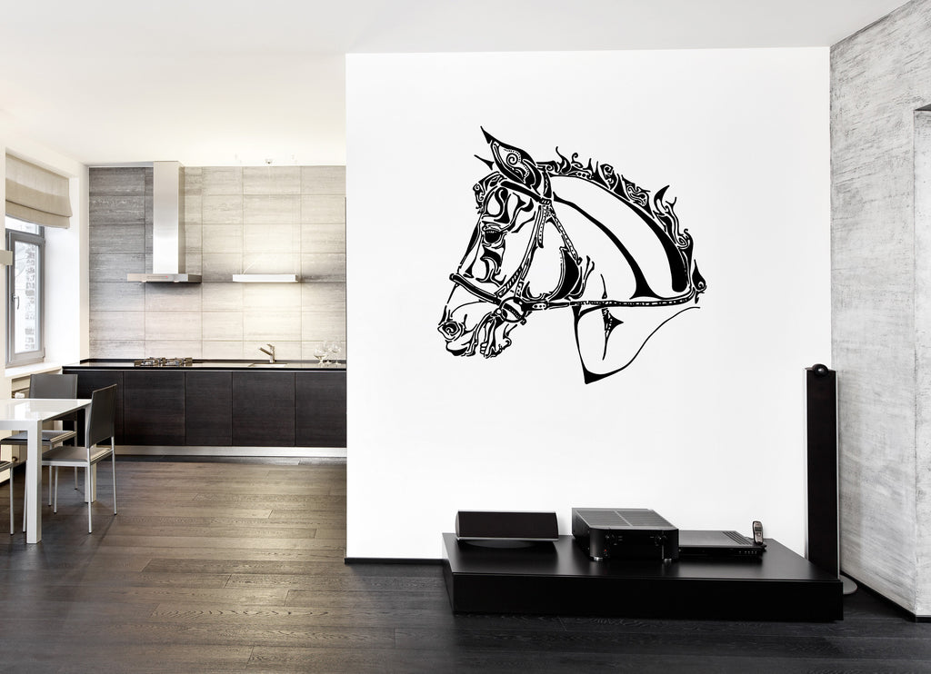 ik666 Wall Decal Sticker head horse nag pet stallion thoroughbred horse bedroom