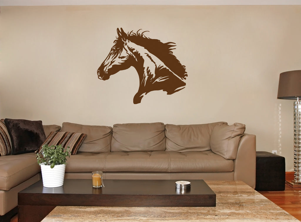 ik675 Wall Decal Sticker head horse nag pet stallion thoroughbred horse bedroom
