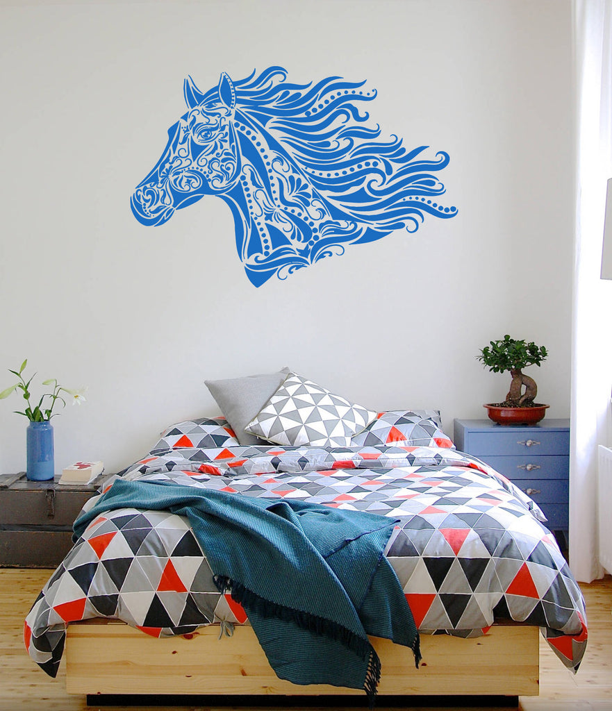 ik691 Wall Decal Sticker head horse nag pet stallion thoroughbred horse bedroom