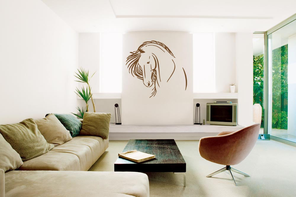 ik693 Wall Decal Sticker head horse nag pet stallion thoroughbred horse bedroom