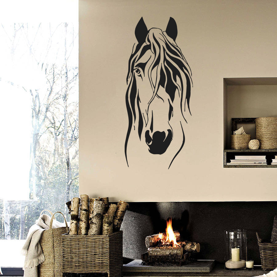 ik700 Wall Decal Sticker head horse nag pet stallion thoroughbred horse bedroom