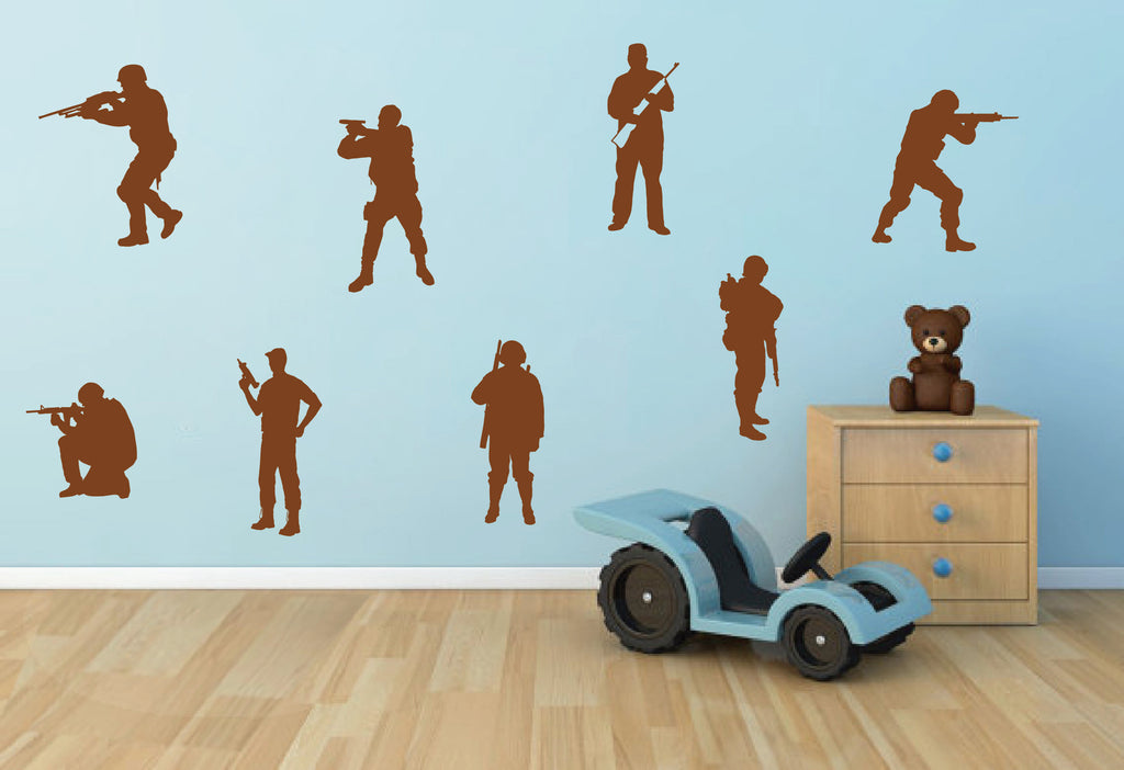 ik702 Wall Decal Sticker soldiers US Army troops force