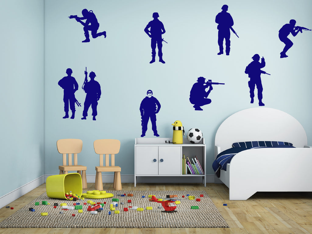 ik705 Wall Decal Sticker soldiers US Army force vest