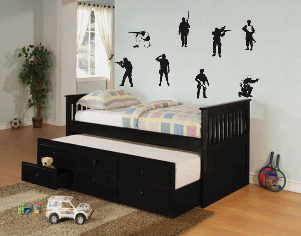 ik707 Wall Decal Sticker soldiers US Army force vest