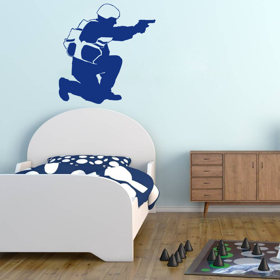 ik708 Wall Decal Sticker soldiers US Army Military police