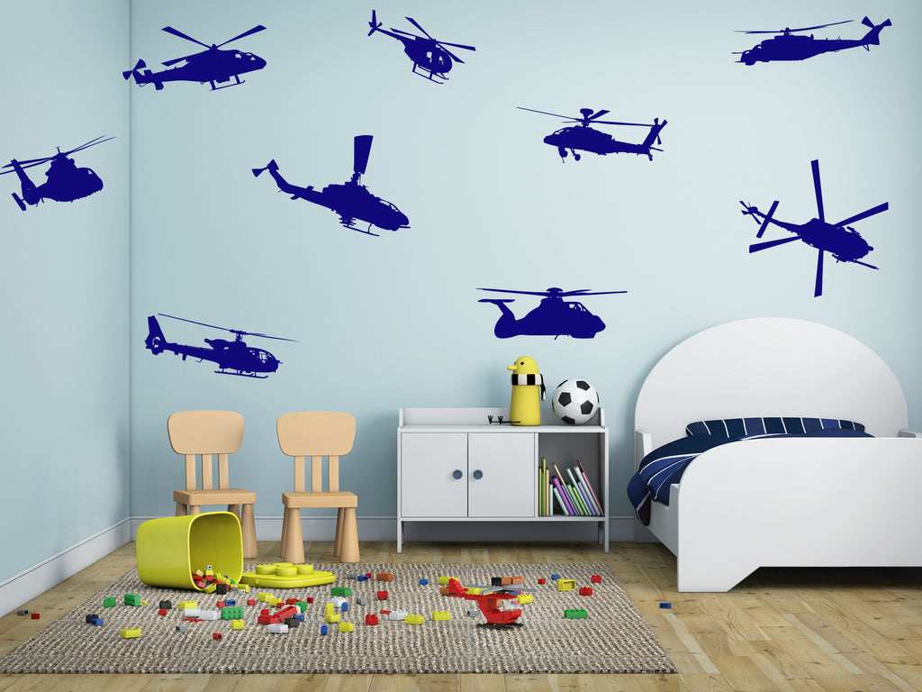 ik714 Wall Decal Sticker Mural helicopter air transport US Army bedroom
