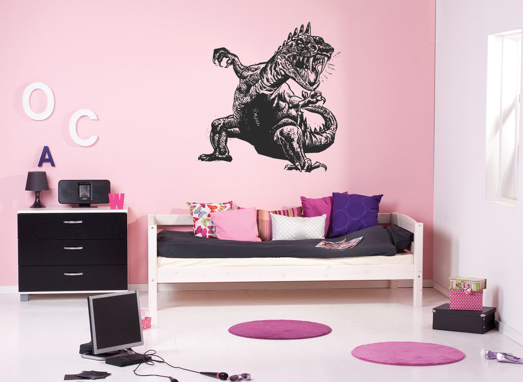 ik718 Wall Decal Sticker Dragon Magic Dinosaur Dino Animal Tiranosaur