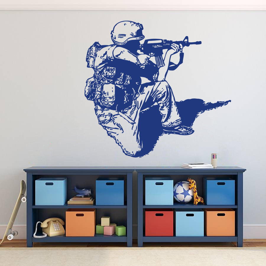 ik720 Wall Decal Sticker Army soldier military shooter sniper vest