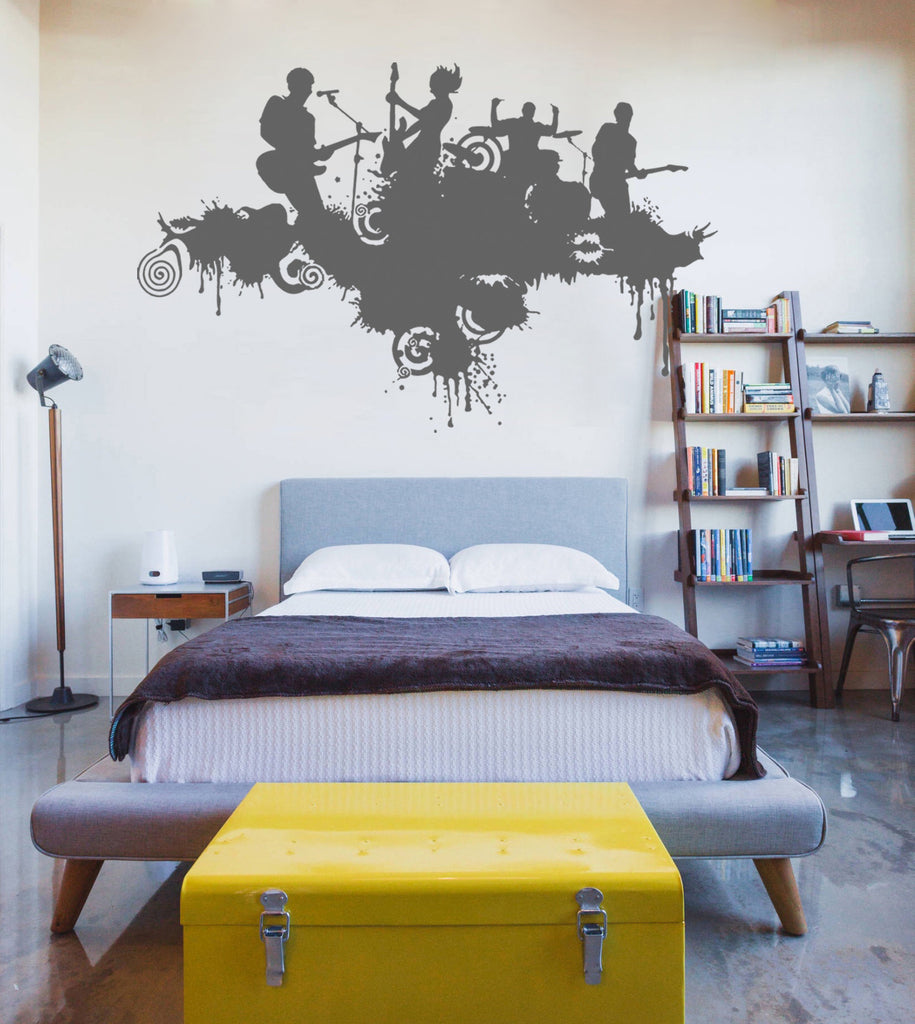 ik722 Wall Decal Sticker rock band guitar drums singer concert bedroom teens