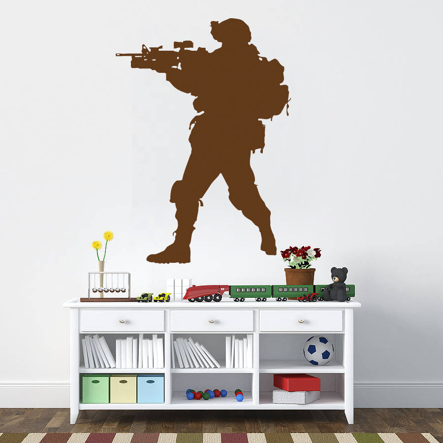 ik731 Wall Decal Sticker Army soldier military shooter sniper vest