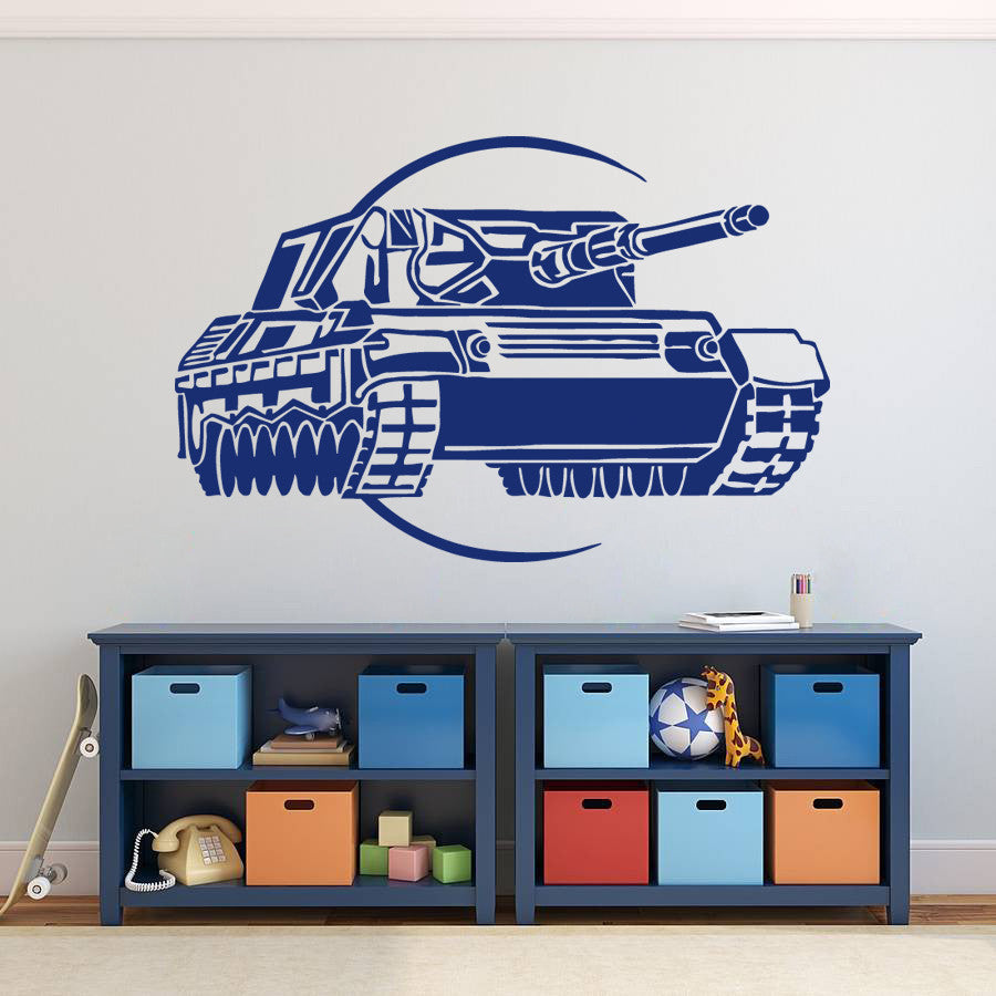 ik750 Wall Decal Sticker Military Tank US Army special weapons squad children's