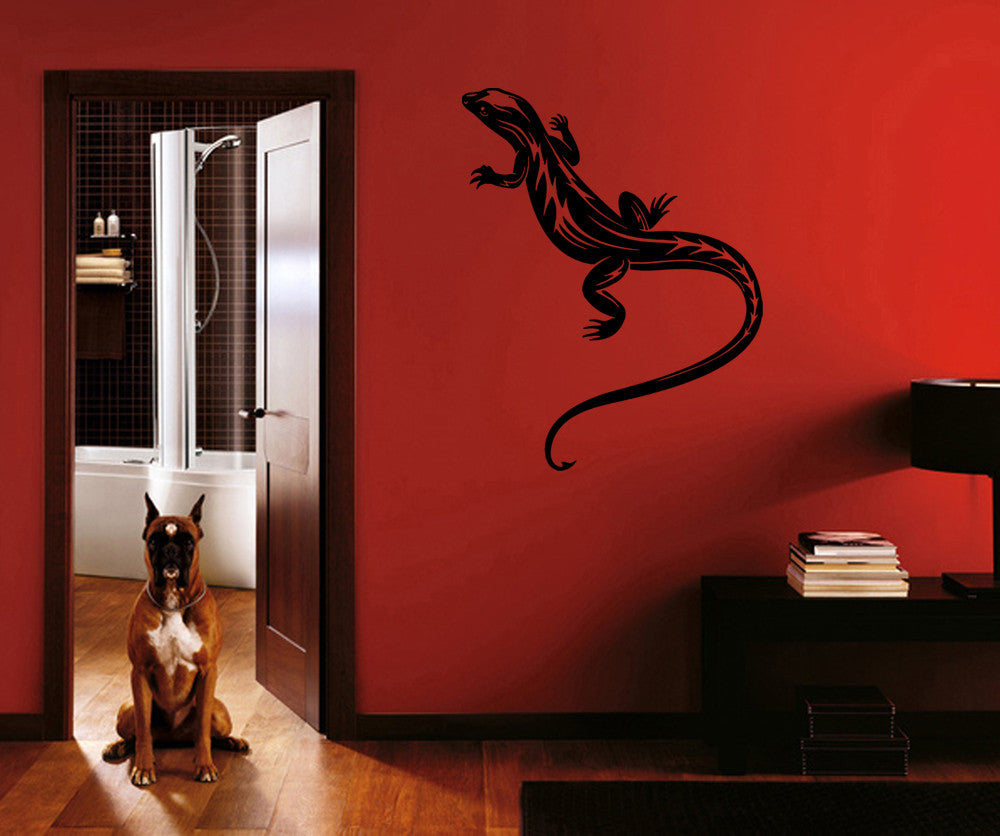 ik761 Wall Decal Sticker lizard salamander reptiles living bedroom kids room