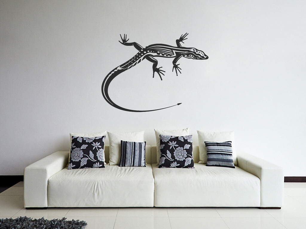 ik763 Wall Decal Sticker lizard salamander reptiles living bedroom kids room