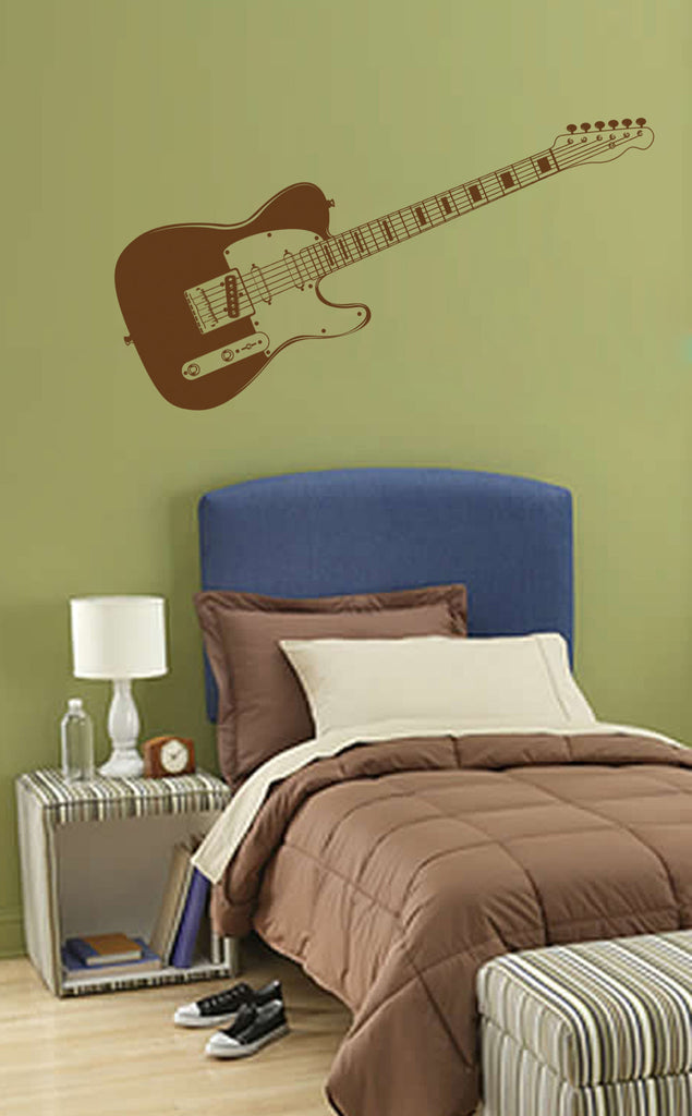 ik772 Wall Decal electric bass guitar star music song artist notes chords rock