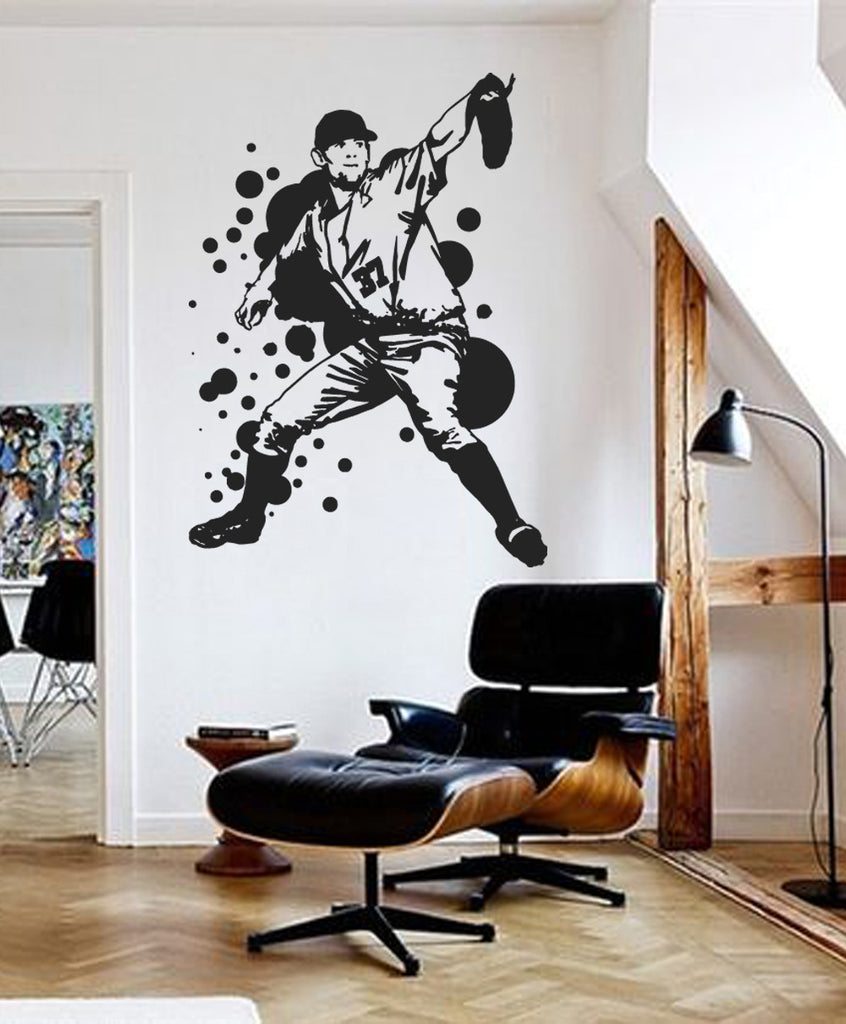 ik778 Wall Decal Sticker Baseball American football players sport kids room