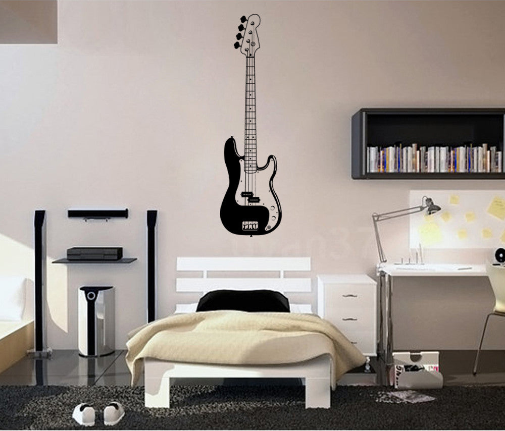 ik789 Wall Decal electric bass guitar star music song artist notes chords rock