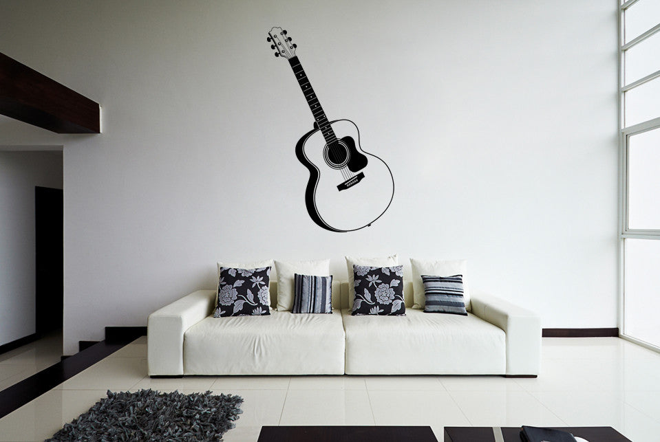 ik800 Wall Decal Sticker guitar music song artist notes chords bedroom teens