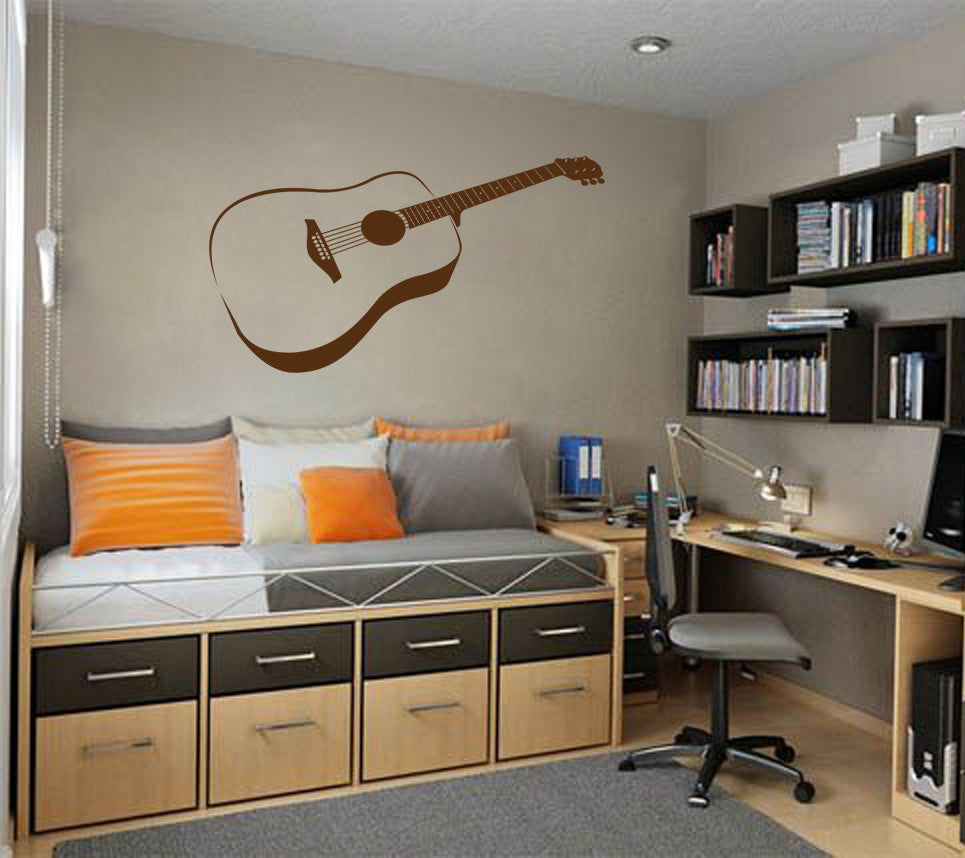 ik804 Wall Decal Sticker guitar music song artist notes chords bedroom teens
