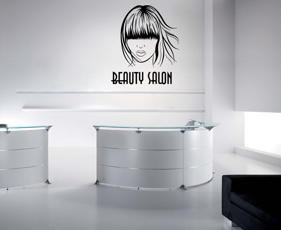 ik823 Wall Decal Sticker beauty salon girl hair haircut makeup manicure nail