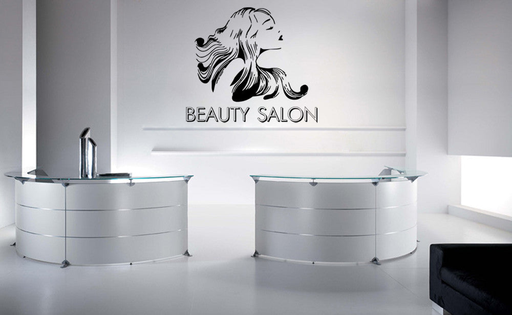 ik826 Wall Decal Sticker beauty salon girl hair haircut makeup manicure nail