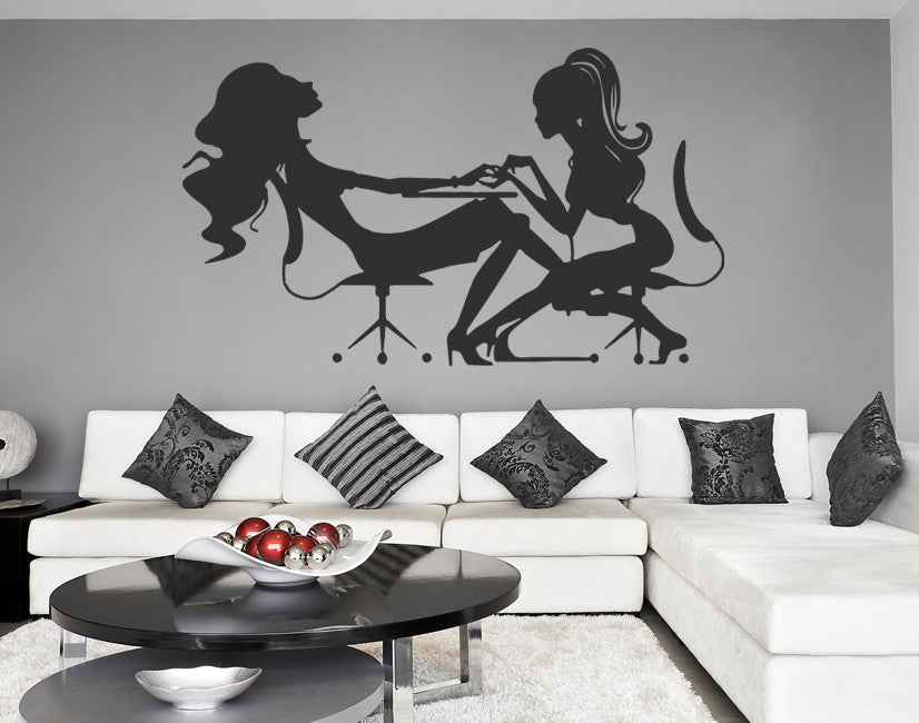 ik832 Wall Decal Sticker beauty salon girl hair haircut makeup manicure nail