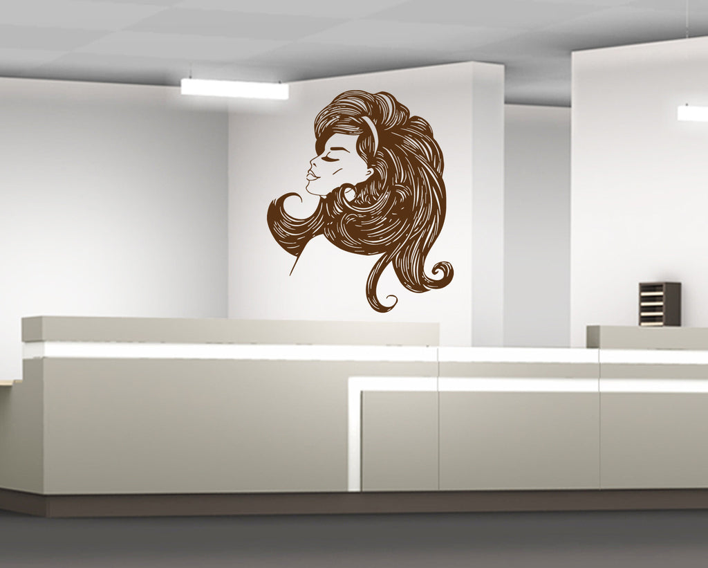 ik844 Wall Decal Sticker beauty salon girl hair haircut makeup manicure nail