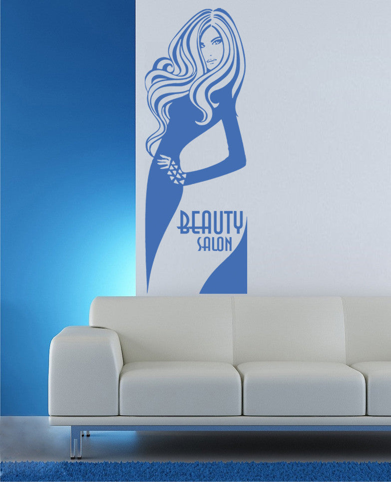 ik847 Wall Decal Sticker beauty salon girl hair haircut makeup manicure nail