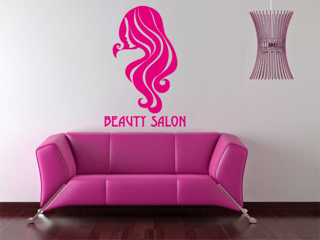 ik851 Wall Decal Sticker beauty salon girl hair haircut makeup manicure nail