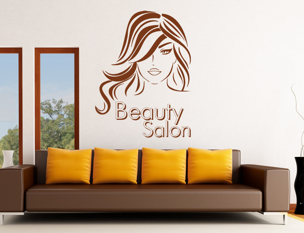 ik865 Wall Decal Sticker beauty salon girl hair haircut makeup manicure nail